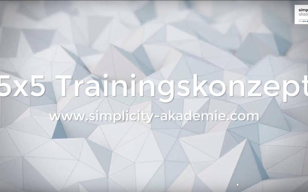 Das 5×5 Trainingskonzept der simplicity.akademie
